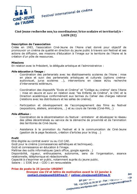 Annonce Ciné Jeune